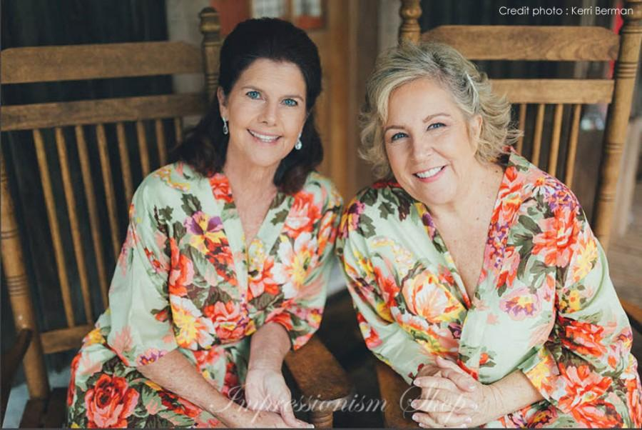 Wedding - Set of 2, Mother of the groom, Mother of the bride robe, Maid of honor, Bride Kimono Robes, Bridesmaids robes, Bridesmaid gift robe,