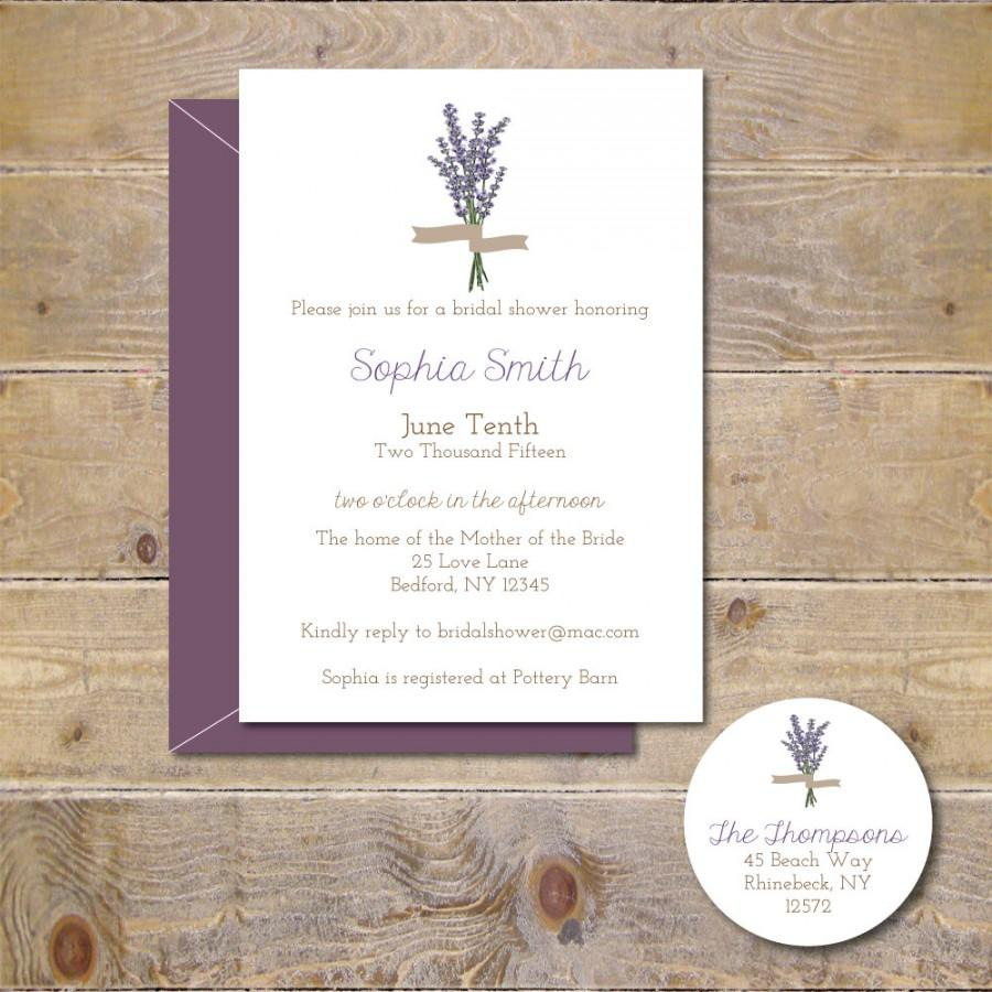 bridal shower invitations bridal shower lavendar flowers bridal