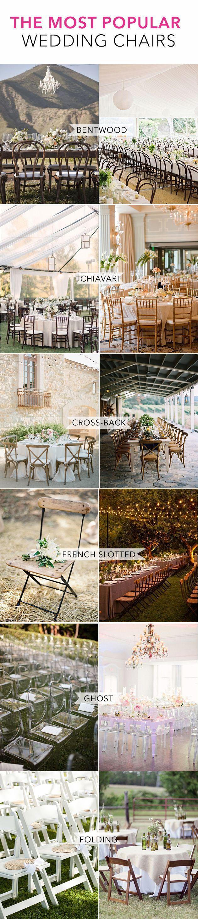 Hochzeit - Guide To Wedding Chair Styles