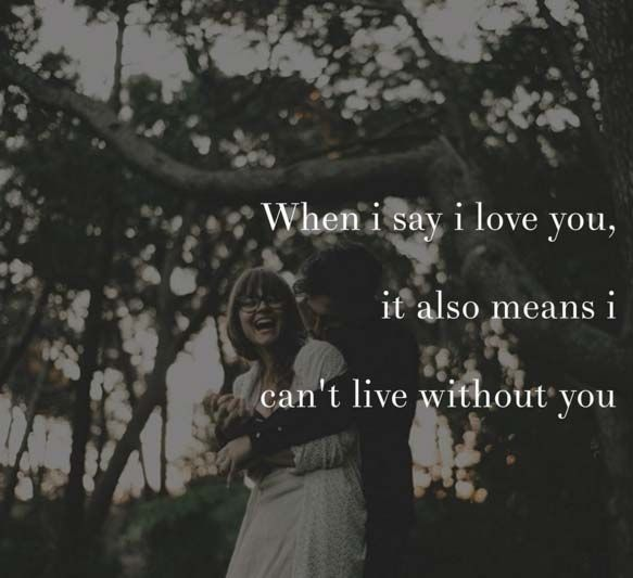 i can t live without your love quotes