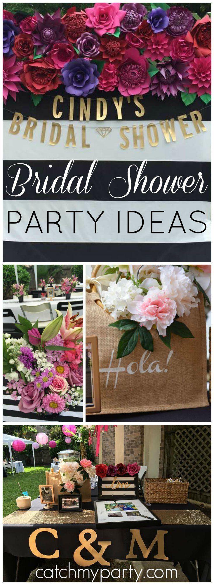 spanish florals bridalwedding shower spanish garden bridal shower