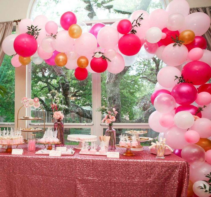 Hochzeit - Pink And Gold Baby Shower Party Ideas