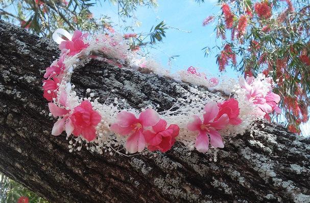 Pink Flower Crown ea795ff63f9