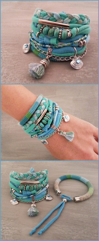 Turquoise Bracelet Gypsy Seafoam Boho Set Summer Tiffany Green Tel Jewelry