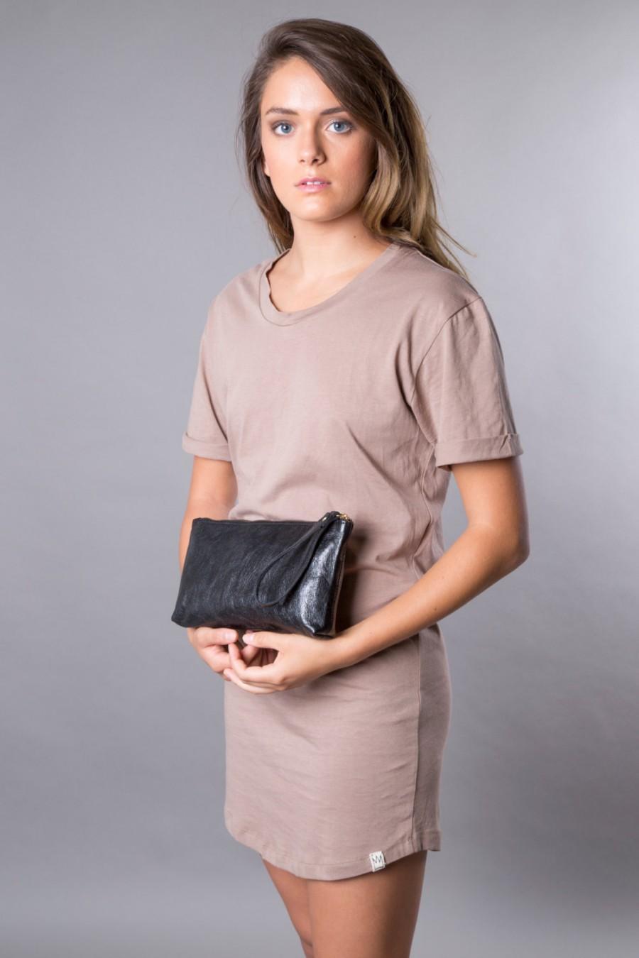 4953e79f94e49 Black leather clutch - soft leather purse SALE wristlet cash envelope wallet  - black wallet - zipper pouch- handmade black clutch