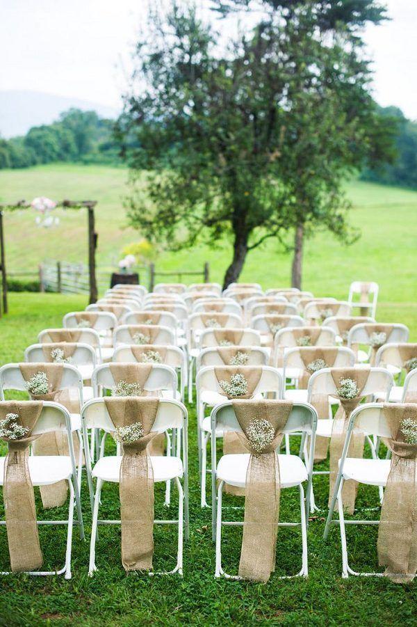 Свадьба - 30 Rustic Wedding Ideas With Burlap Touches