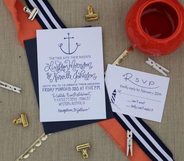 زفاف - 10 Nautical Wedding Invitations