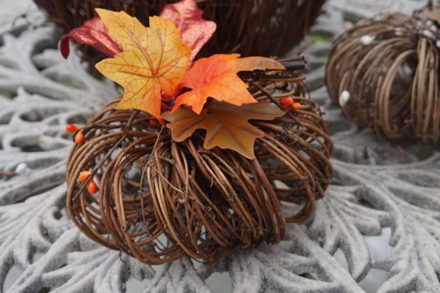 Mariage - Small Pumpkin Centerpiece, Fall Wedding