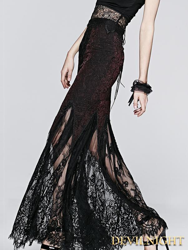 Wedding - Black Fishtail Skirt