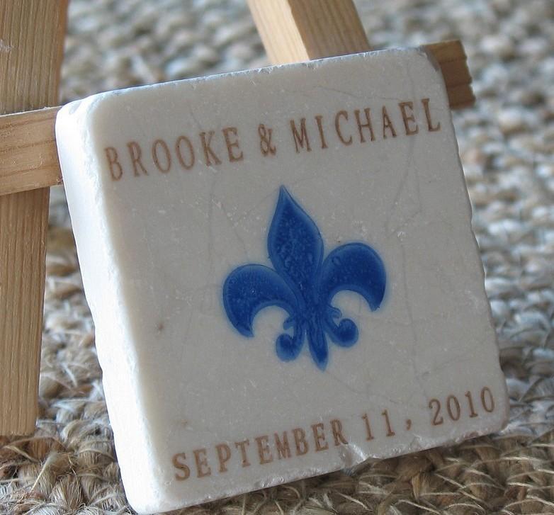 Royal Blue Fleur De Lis Wedding Favors Save The Date Magnets Set