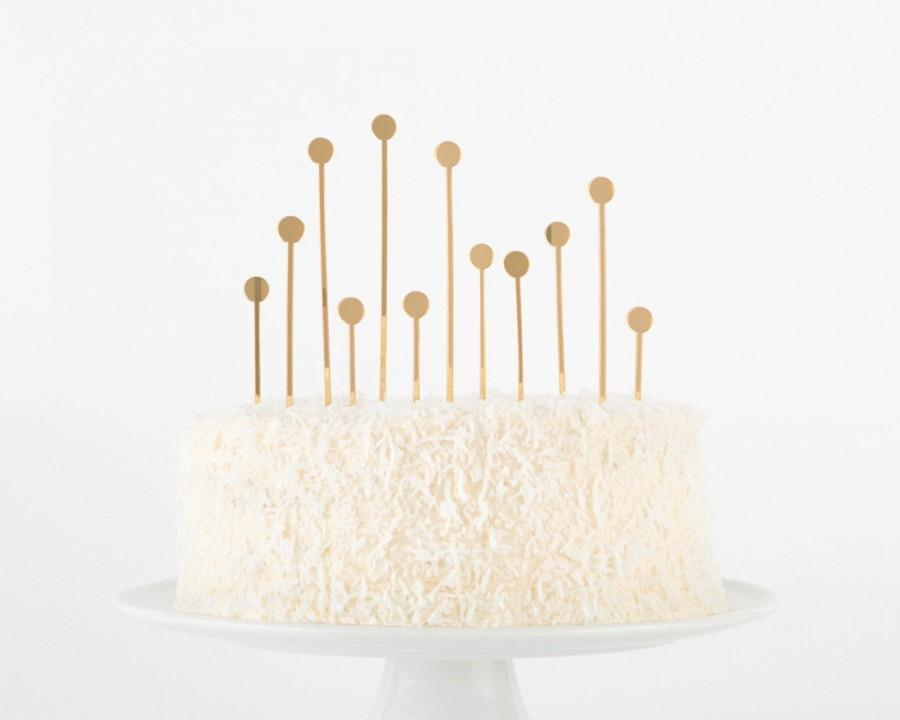 Hochzeit - 70% OFF!!! Acrylic Champagne Cake Topper: mirrored gold