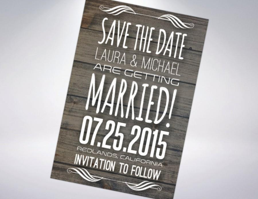 Mariage - Rustic Save-The-Dates; Postcard Optional