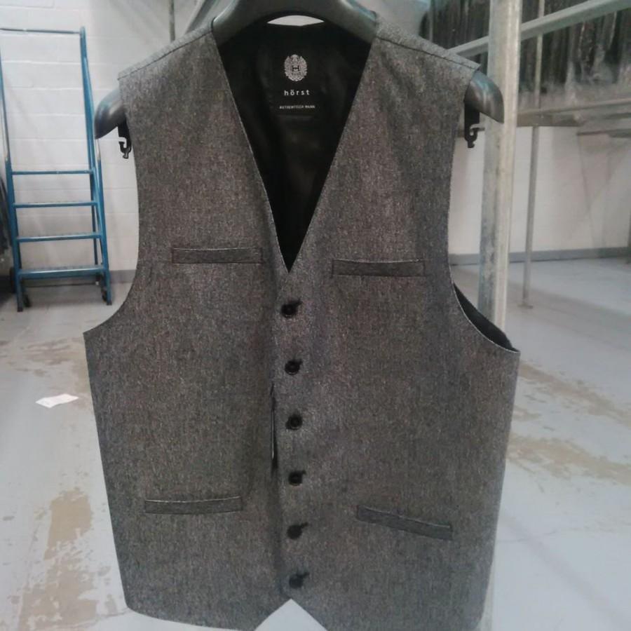 Свадьба - Tweed Vests - Charcoal Grey
