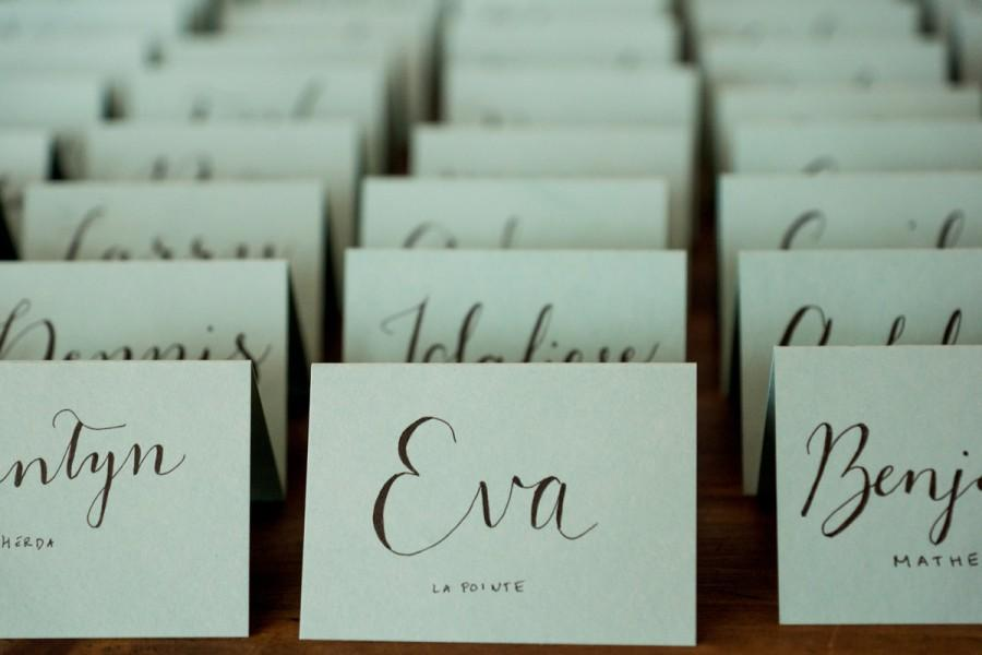 10 handwritten calligraphy wedding place cards escort cards for dinner party anniversary or shower - Wedding Place Cards