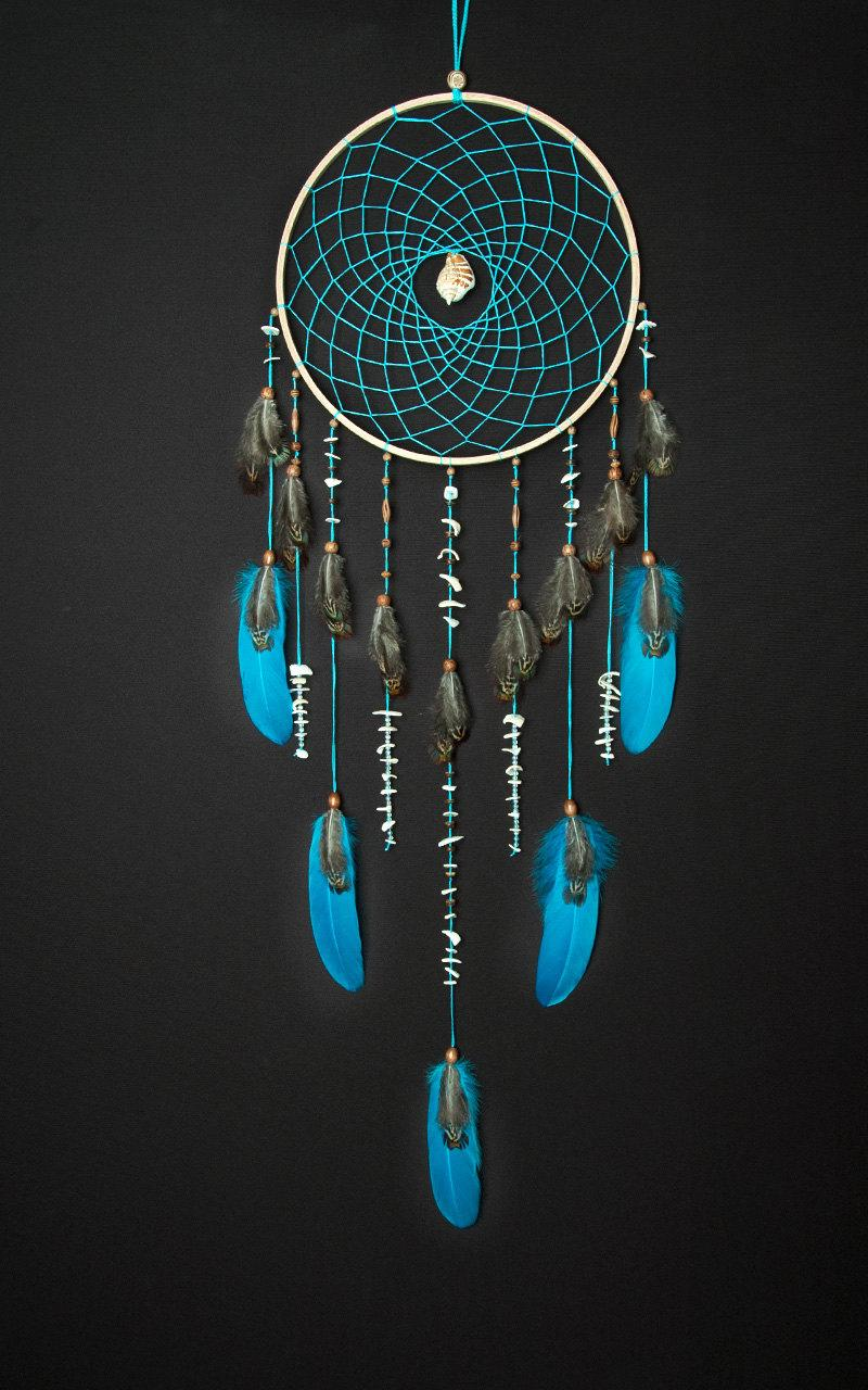 Large Turquoise Dream Catcher Sea dreamcatcher Something