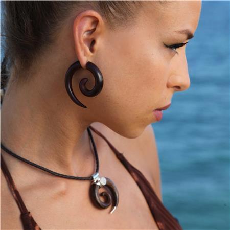 Lila Fake Gauge Earrings Faux Ear Stretcher Piercing Split Jewelry