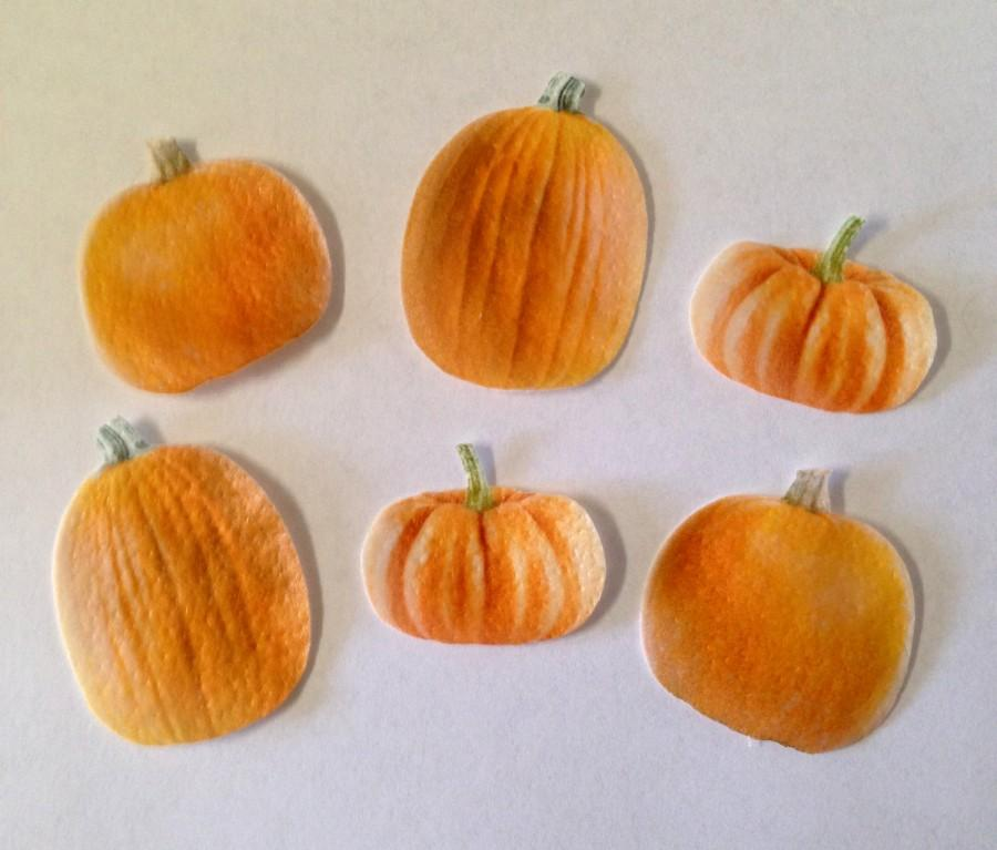 Свадьба - Double-Sided Edible Wafer Paper Pumpkins for Cakes, Cupcakes or Cookies