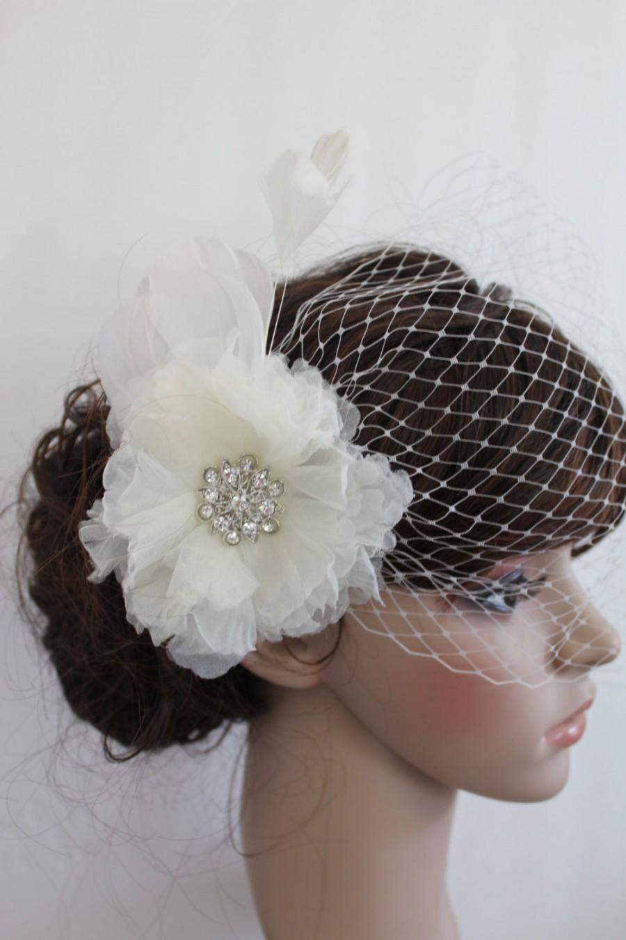 Hochzeit - Wedding accessory veils Bridal birdcage veil Wedding birdcage veil wedding hair comb birdcage bridal Fascinators wedding veils headpieces