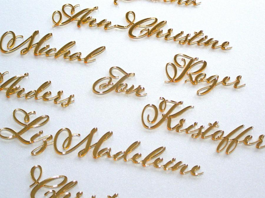 Personalized wedding place card laser cut names wedding for Personalized wedding place cards