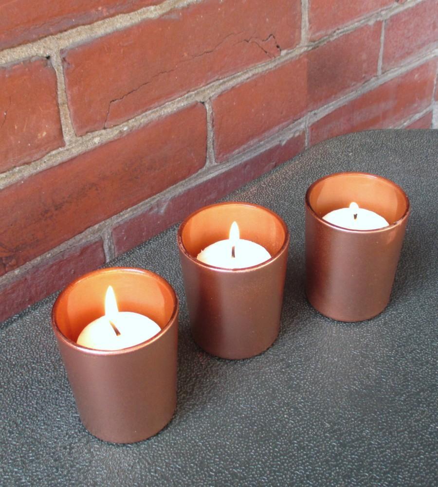 Copper Wedding / Wedding Votive Candle Holder / Fall Wedding Decor ...