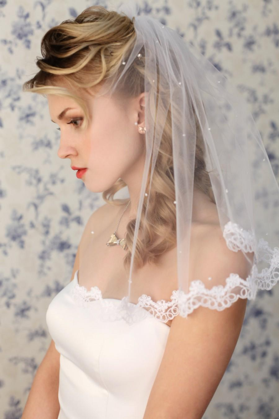Hochzeit - One tier wedding veil A1, Bridal veil, Bridal Accessories, Wedding Accessories