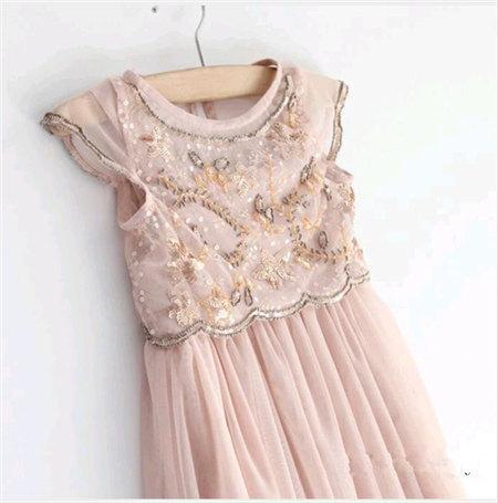 زفاف - Blush Pink Beaded Chiffon Beaded Long Length Dress