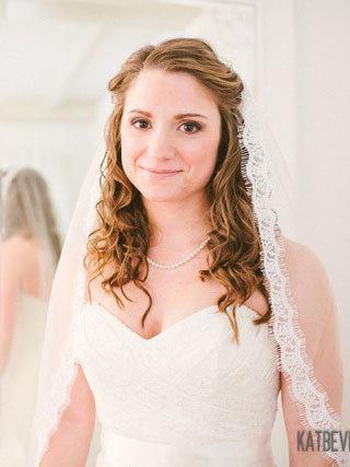Свадьба - Lace Fingertip Veil