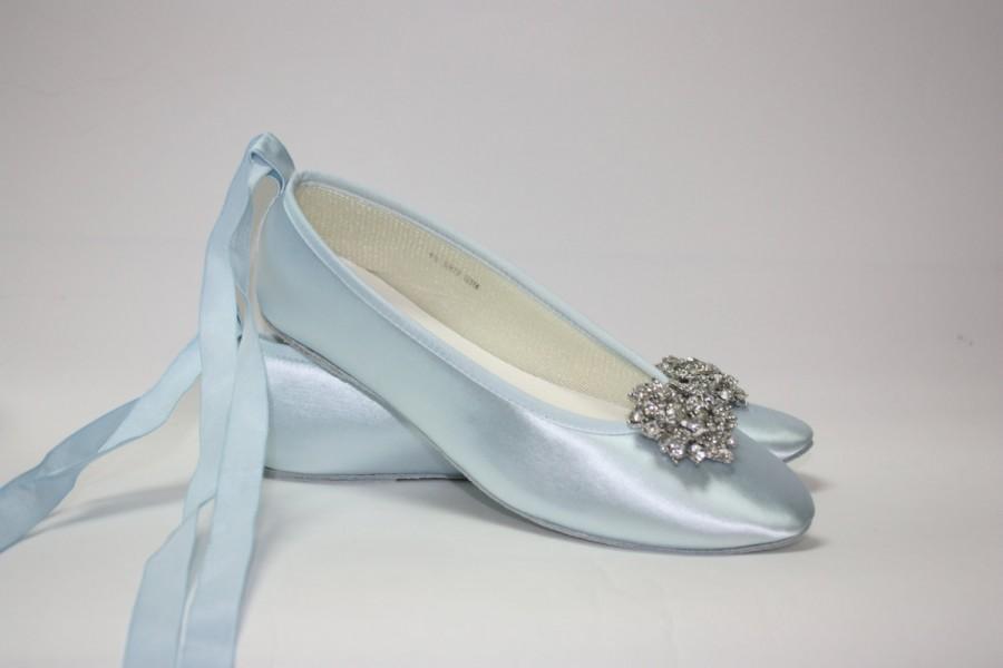 Свадьба - Wedding Shoes - Ballet Flats - Blue Shoes- Choose Over 100 Colors - Wedding Flat - Bridal Flat - Wedding Slippers - Bespoke Shoes - Parisxox