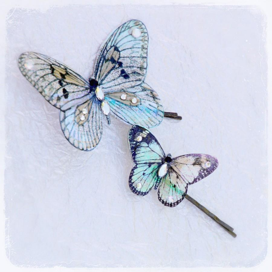 Wedding - Butterfly Bobby Pins - Wedding Accessory - Fairytale Garden Weddings - Bridal Accessories - Gift Idea For Brides - Summer Spring Botanical
