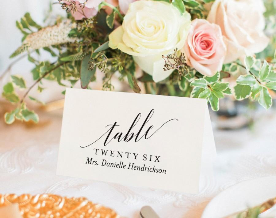 Hochzeit - Wedding Place Cards, Wedding Place Card Printable, Place Card Template, Wedding Printable, Rustic Wedding, PDF Instant Download