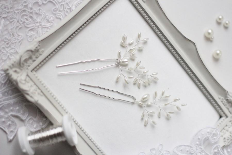 Wedding - Wedding Hair Pins Bridal Hair Pins Set of Two Bridal HairPins Bridal Hair Accessory Brida Hair Piece