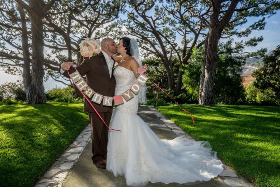 Mariage - Thank You Banner/ Wedding Garland/ Banner/ Thank You Card  Photo Prop/ Wedding Thank You/ Thanks so much / Wedding Decoration