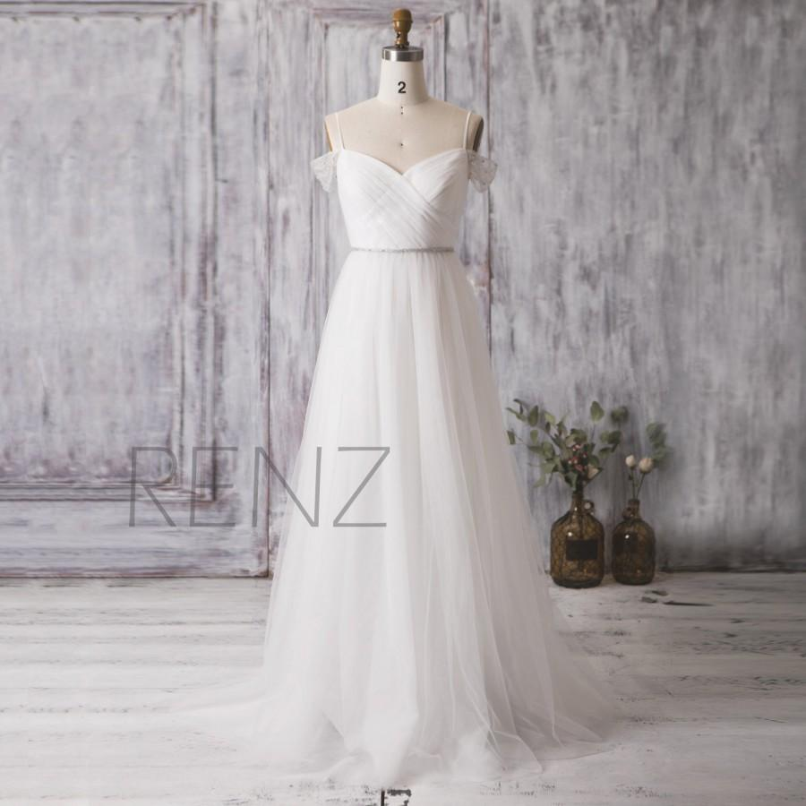 Свадьба - 2016 Off White Bridesmaid Dress, Long Sweetheart Wedding Dress, Double Straps Prom Dress Belt, Backless Cocktail Dress Floor Length (HW176)