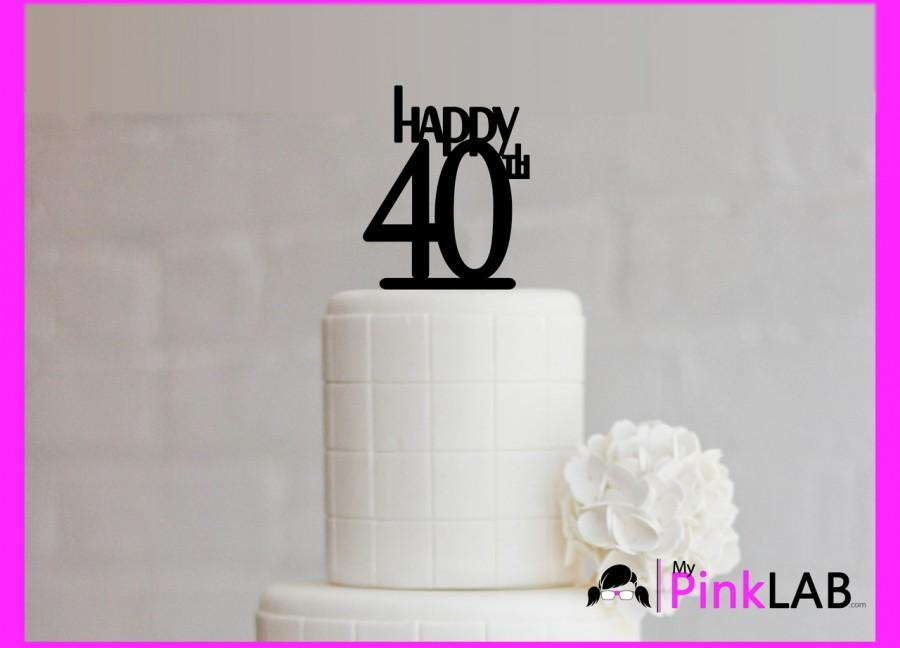 Cake Decor Rustic Happy Birthday Topper All Toppers 40th