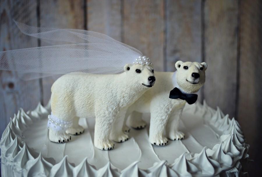 Wedding - Bear wedding cake topper-bears-bear lover-polar bear-woodland-brown bear-bear lover-bear wedding-rustic wedding-fall wedding-kissing