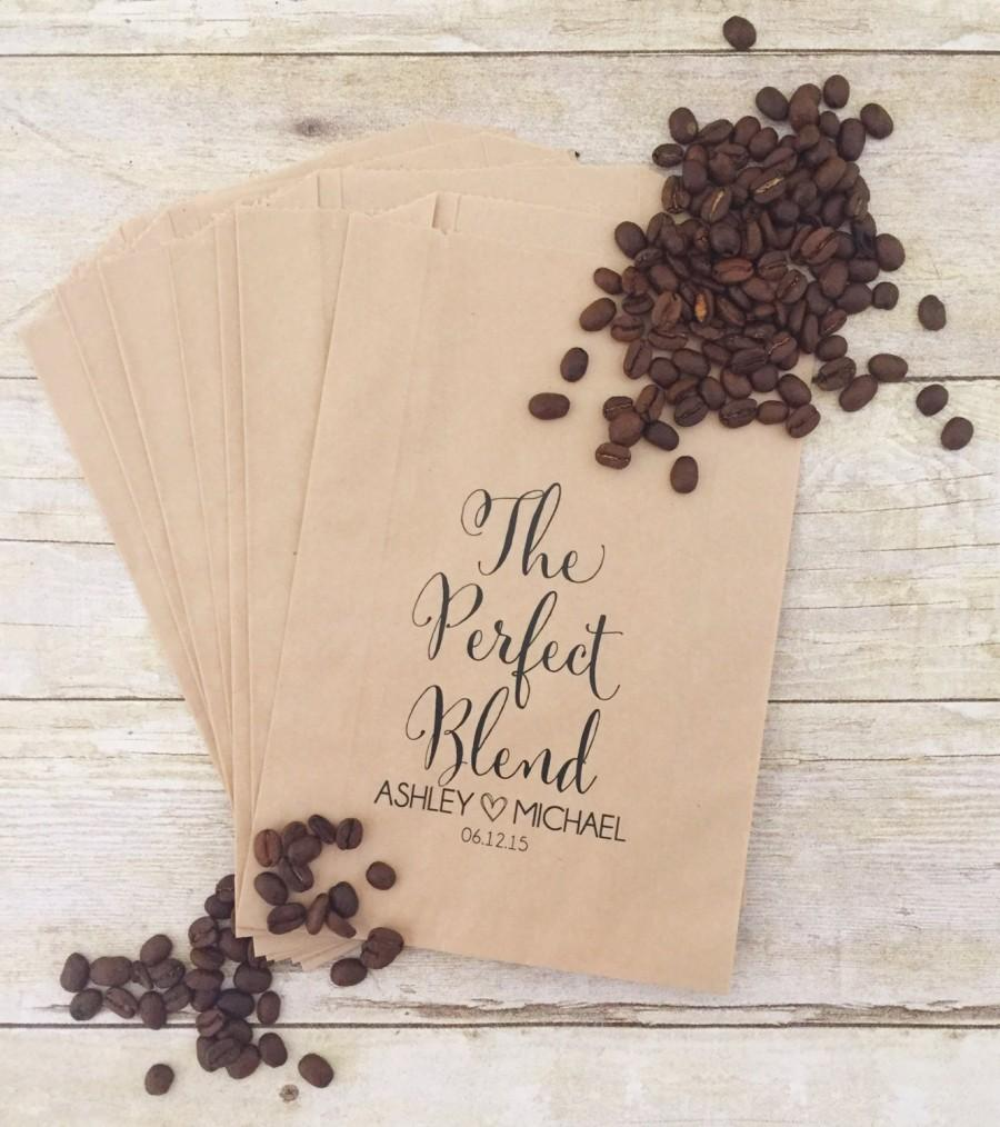 Свадьба - The Perfect Blend, Coffee Wedding Favors, Coffee Favors, Coffee Bags, Wedding Coffee, Personalized Wedding Favors, Favor Bags, Treat Bags