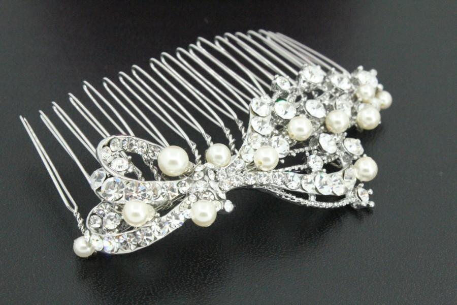Свадьба - Wedding hair piece Pearl bridal hair comb Wedding hair comb Bridal hair accessories Wedding hair jewelry Bridal comb Wedding headpiece pearl