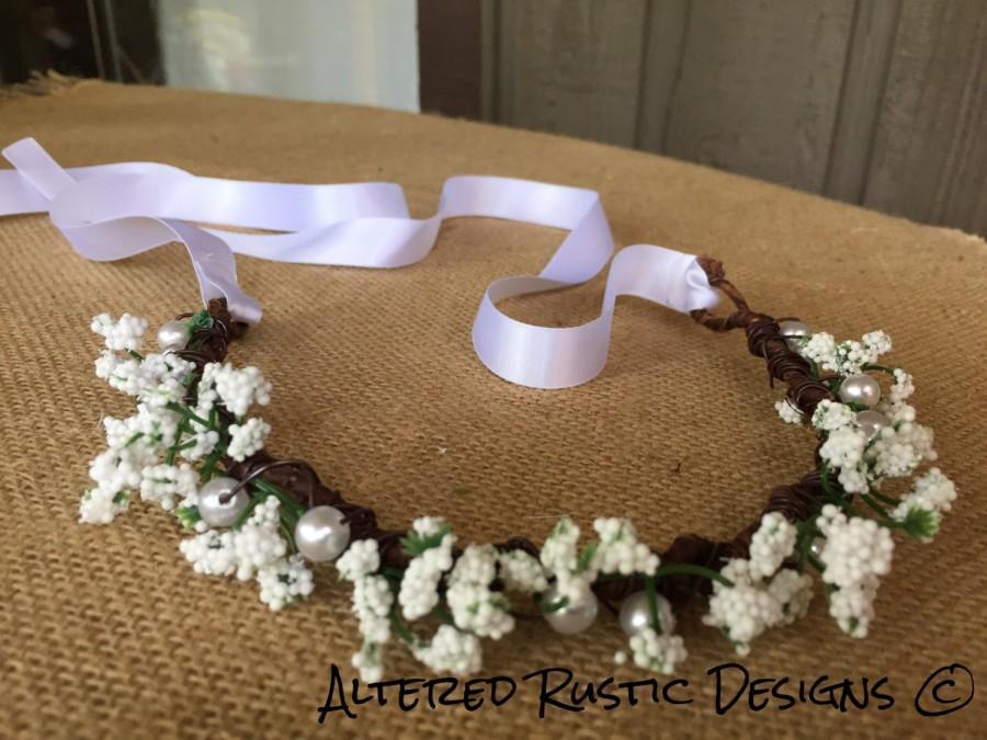 Mariage - Bridal crown/ bridal headpiece/ floral brides crown/ crown for wedding/ wedding crown/ flower girl crown/ headpiece/ flower crown/bride hair
