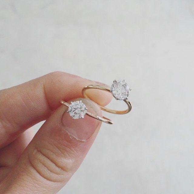 """Свадьба - @nataliemariejewellery On Instagram: """"Tap To Play, This Has Become My Signature Diamond Solitaire. A Fine, Round Band, And A Fine, 6 Claw Setting, Both Made To Compensate The…"""""""