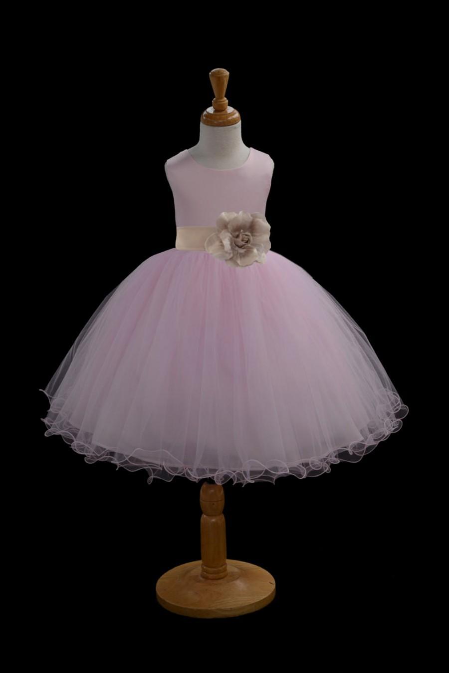 Свадьба - Pink Flower Girl dress tie sash pageant wedding bridal recital children tulle bridesmaid toddler 37 sashes sizes 12-18m 2 4 6 8 10 12