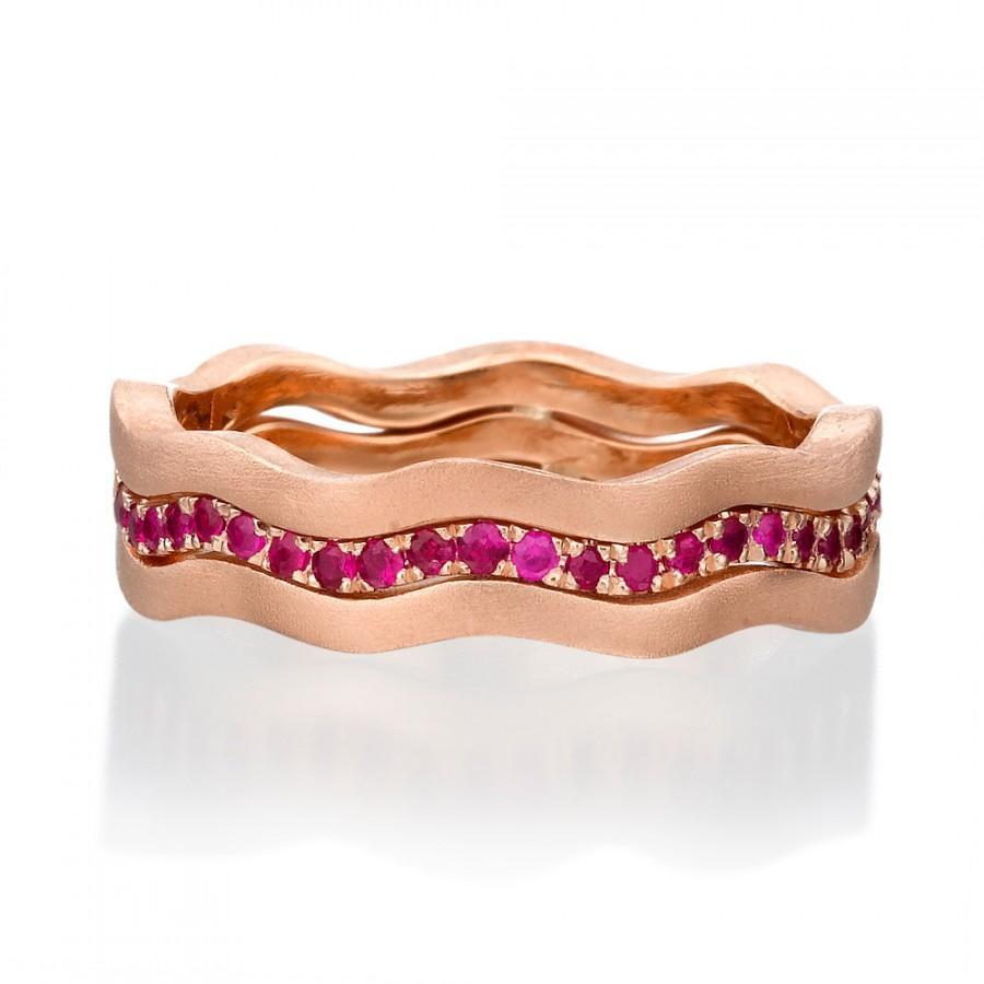 Mariage - Ruby Band, Ruby ring, 14k Gold Ring, rose gold ring,Ruby Engagement Ring, Designed gold Ring, Ruby wedding band, 14K rings, Gemstone Rings