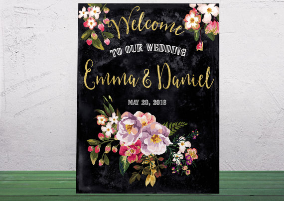 2bff301e8a04e Printable Wedding Welcome Sign Welcome To Our Wedding Custom Wedding ...