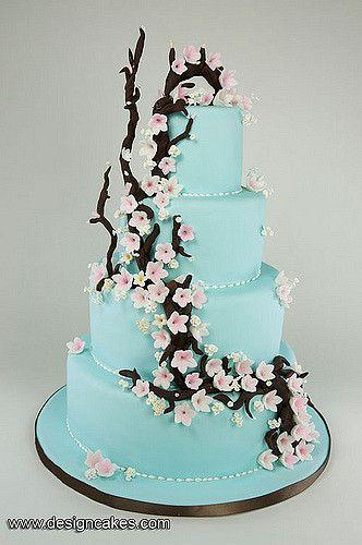 Wedding - Cherry Blossom Wedding Cake