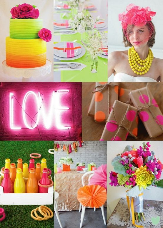 Mariage - Neon Wedding Colours - Moody Monday - The Wedding Community Blog