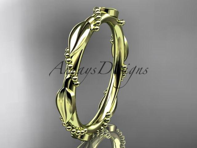 Свадьба - 14k  yellow  gold   wedding ring,engagement ring,wedding band ADLR178B