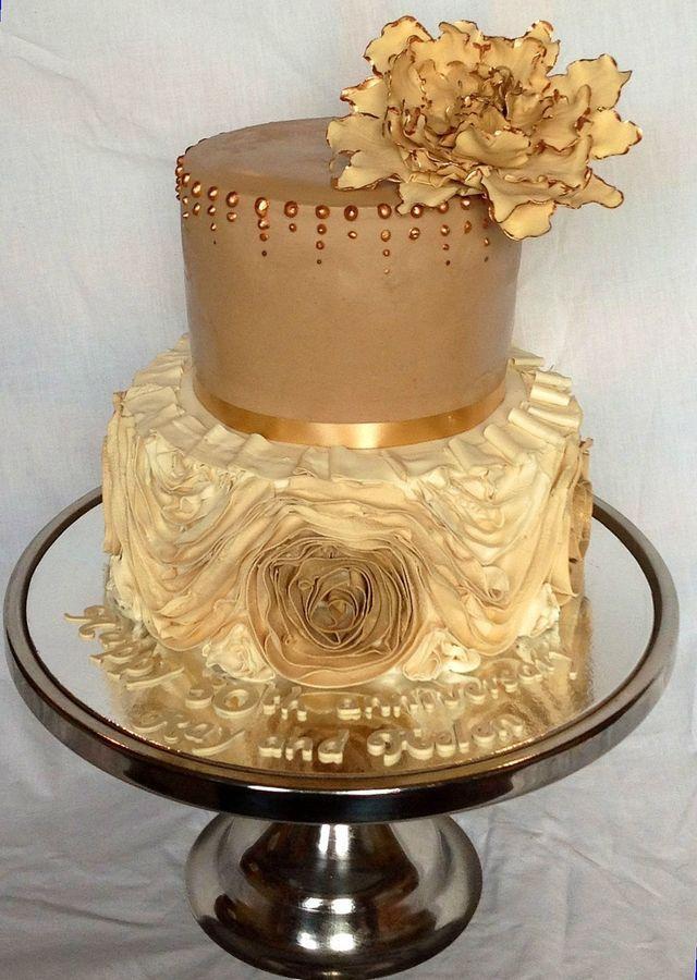 Golden Wedding Anniversary Cake — Anniversary #2543537 - Weddbook