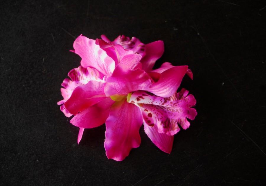 Mariage - Bridal Orchid Hair Clip Wedding Hair Clip  Wedding Accessory Bridal Accessory Orchids