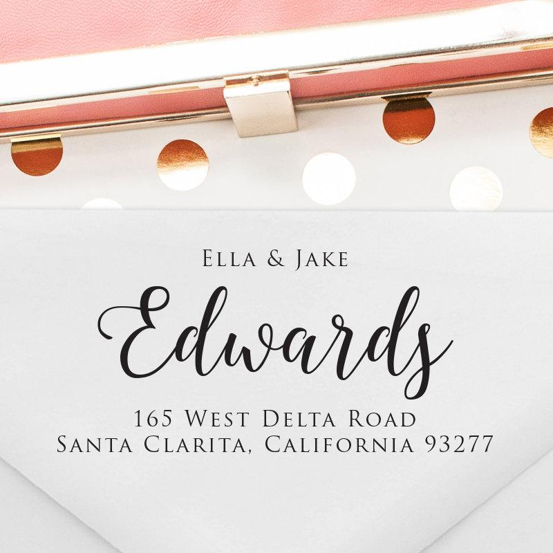 personalized return address stamp wedding gift self inking stamp