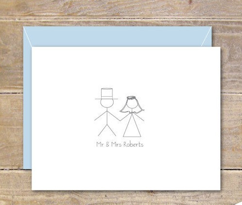 stick figure wedding thank you cards stick figures bridal shower thank you cards stick figure bride and groom stick figure cards