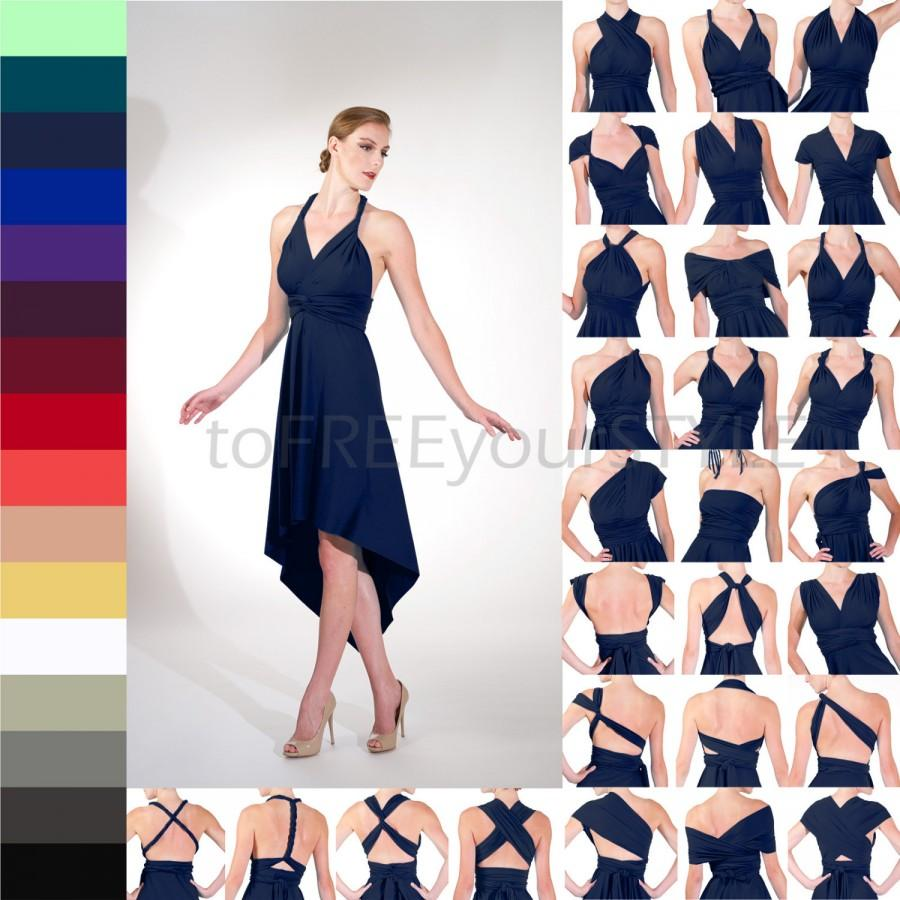Pointed high low infinity wrap dress free style dress convertible pointed high low infinity wrap dress free style dress convertible bridesmaid dress infinity dress convertible wrap dress formal bridal ombrellifo Gallery